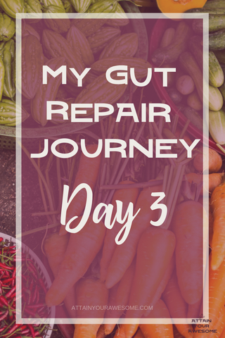 My gut repair journey day 3. Guys! I survived! Lol okay that may not seem like much but I truly stuck to the 2 day liquid cleanse so I'm hungry for solid foods! Here's to feeling better!