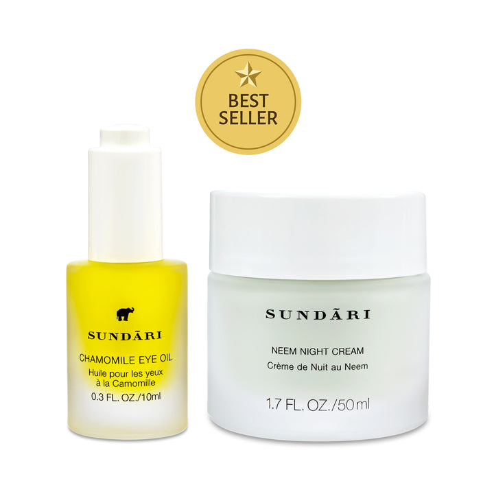 Chamomile Eye Oil + Neem Night Cream - SUNDARI