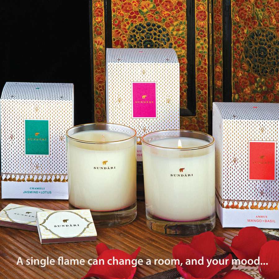 Yoga Candle Set - Chameli - SUNDÃRI