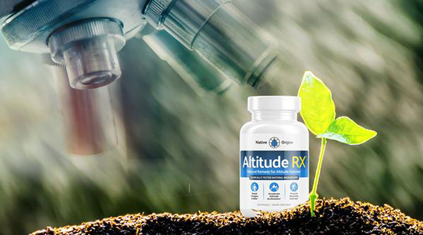 Altitude RX bottle under microscope