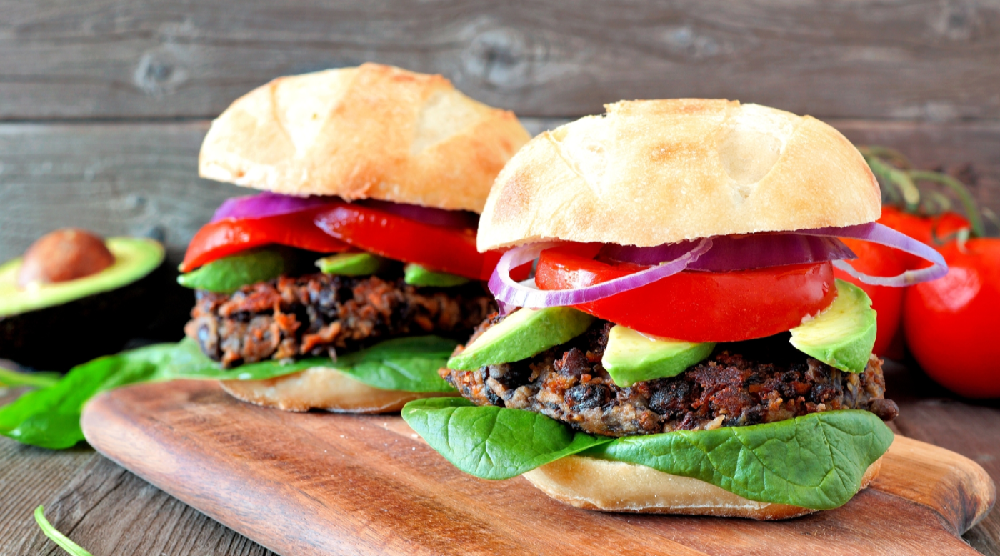 Black bean and veggie burgers with Native Origins Collagen peptides