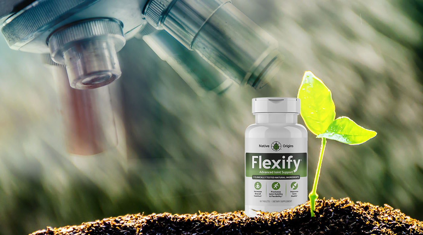 Flexify bottle under microscope