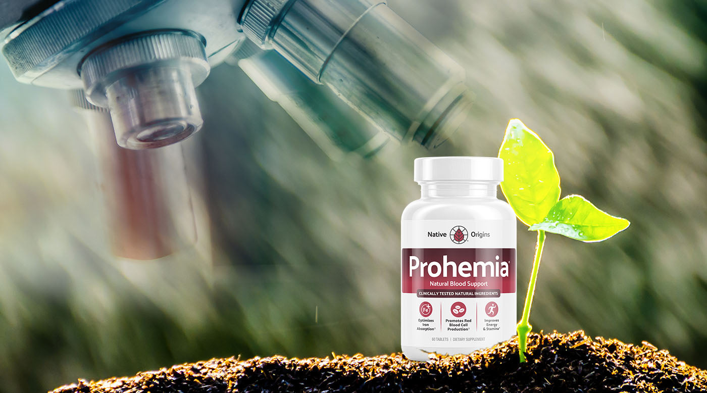Prohemia blood support supplement under microscope