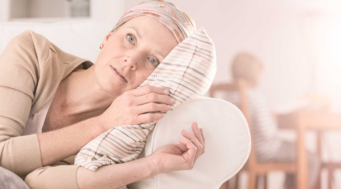 woman with cancer resting