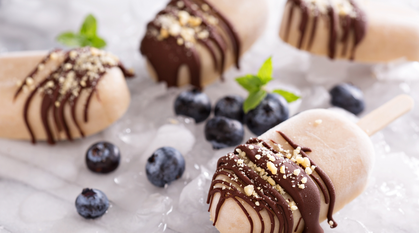 creamy peanut butter banana pops with Native Origins Collagen Peptides