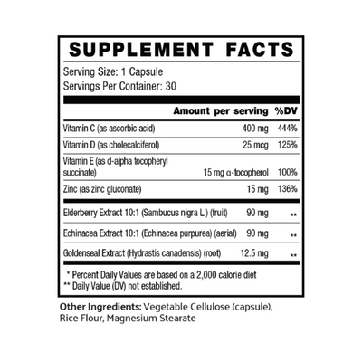 Trimmunity supplement facts