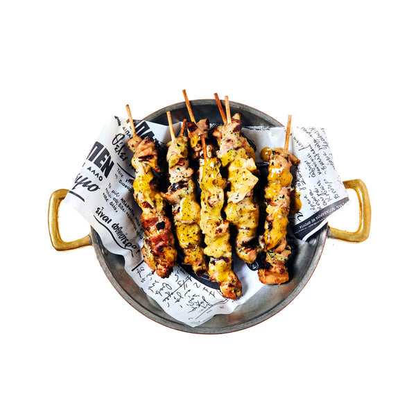 Chicken Kalamaki ( Chicken Skewers)