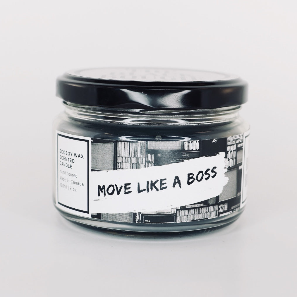 Move Like A Boss - Black Scented Soy Candle - 9 OZ