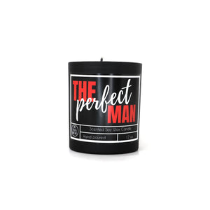 The Perfect Man - Black Scented Soy Candle - 10 OZ