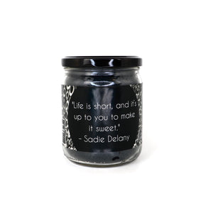 Listen to aunty Sadie - Black Scented Soy Candle - 16 OZ