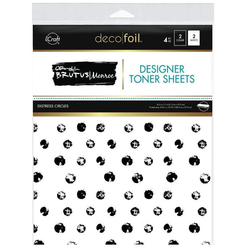 Therm O Web Brutus Monroe Designer Toner Sheets, Distress Circles 19014