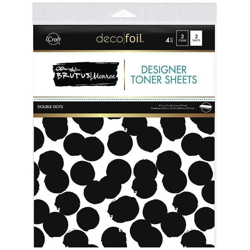 Therm O Web Brutus Monroe Designer Toner Sheets, Double Dots 19026