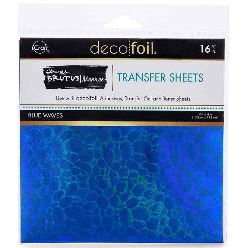 Therm O Web Brutus Monroe Foil Transfer Sheets, Blue Waves 19059