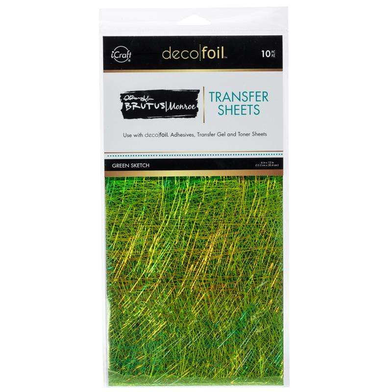 Therm O Web Brutus Monroe Foil Transfer Sheets, Green Sketch 19029