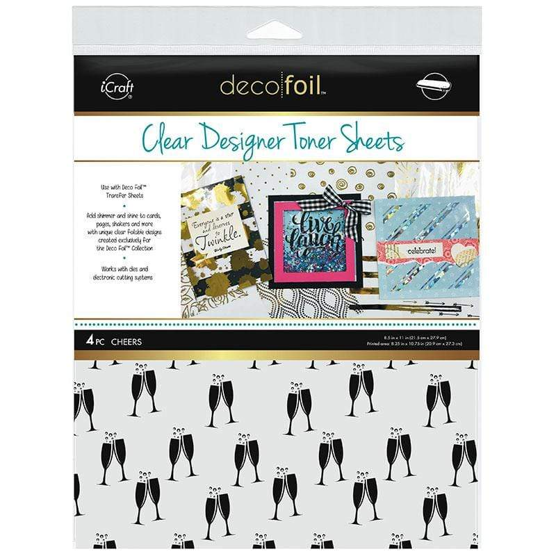 Therm O Web Deco Foil Clear Designer Toner Sheets, Cheers 5531