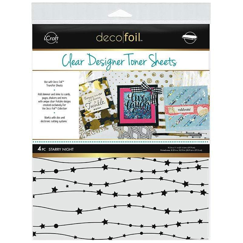 Therm O Web Deco Foil Clear Designer Toner Sheets, Starry Night 5532