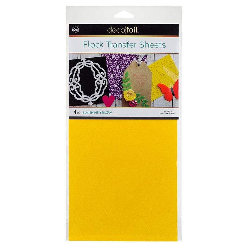 Therm O Web Deco Foil Flock Transfer Sheets, Sunshine Yellow 5535