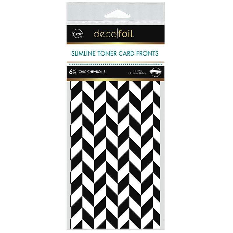 Therm O Web Deco Foil Slimline Toner Card Fronts - Chic Chevron 5585