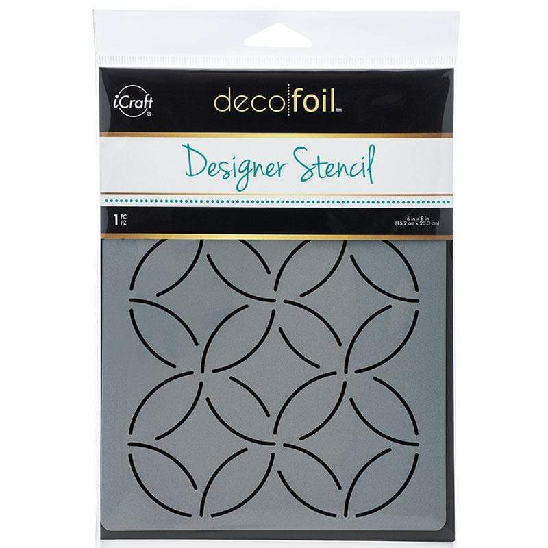 Therm O Web Deco Foil Stencil, Abstract Circles 5508