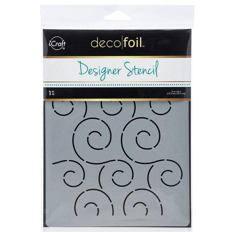 Therm O Web Deco Foil Stencil, Swirls 5506