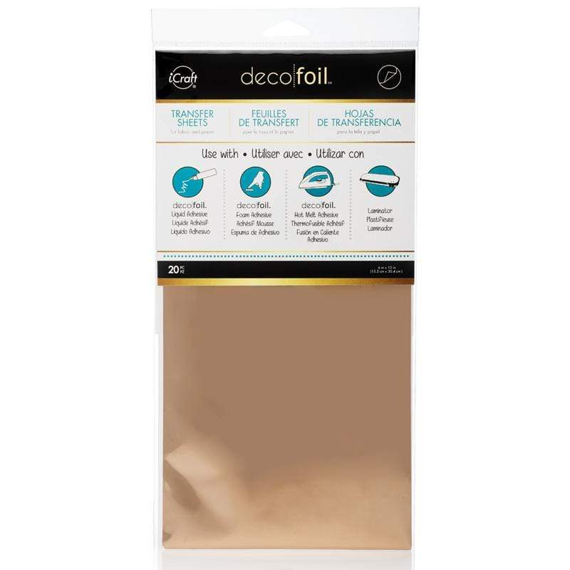 Therm O Web Deco Foil Transfer Foil Value Pack 20 Sheets, Rose Gold 5116.20