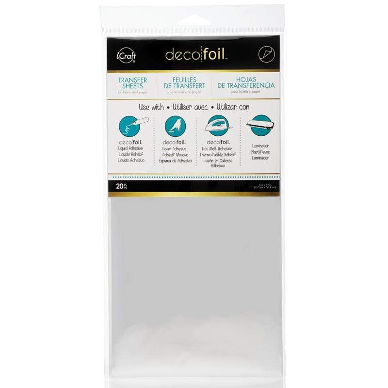 Therm O Web Deco Foil Transfer Foil Value Pack 20 Sheets, Silver 5101.20