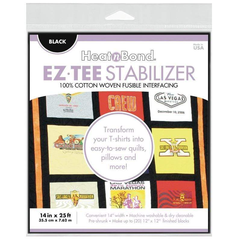Therm O Web EZ-TEE Woven Fusible Stabilizer Pack (Black), 14 in x 25 ft Q2172