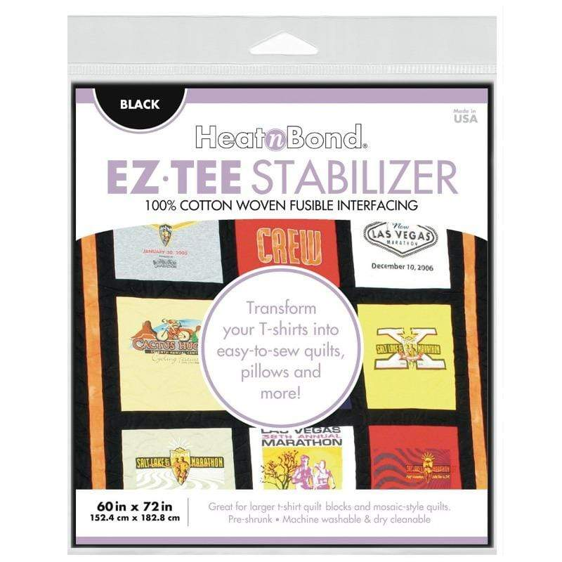Therm O Web EZ-TEE Woven Fusible Stabilizer Pack (Black), 60 in x 72 in Q2174