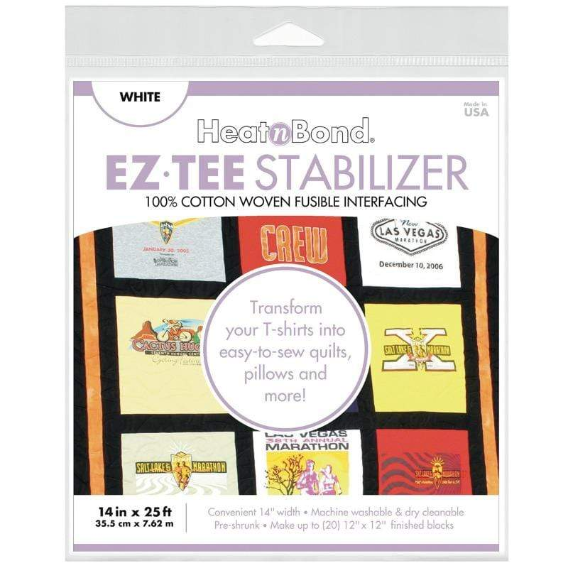 Therm O Web EZ-TEE Woven Fusible Stabilizer Pack (White), 14 in x 25 ft Q2171