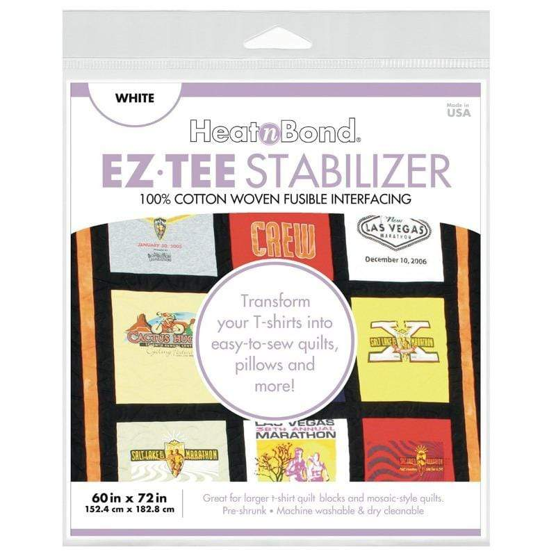Therm O Web EZ-TEE Woven Fusible Stabilizer Pack (White), 60 in x 72 in Q2173