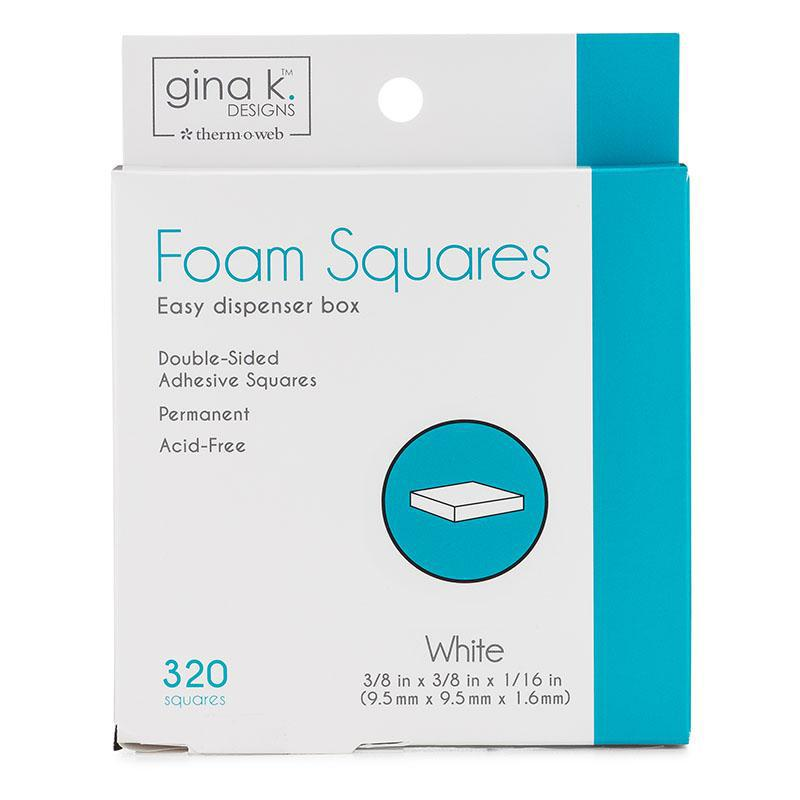 Therm O Web Gina K. Designs Double-sided Adhesive Foam Squares, White 18110