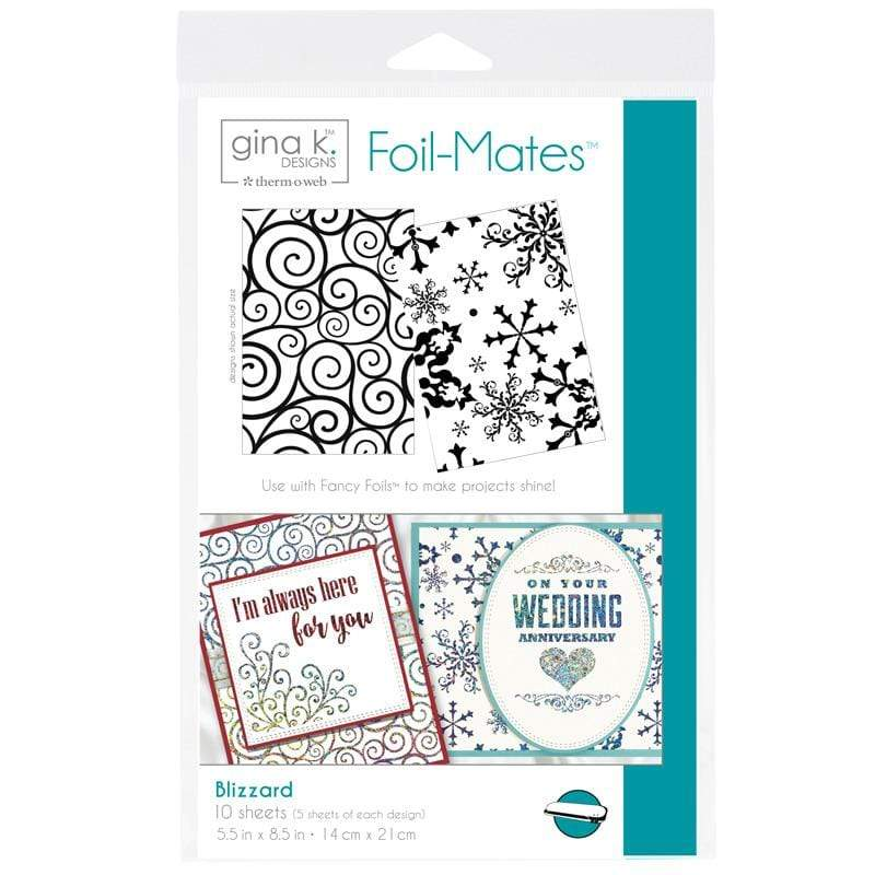 Therm O Web Gina K. Designs Foil-Mates Backgrounds, Blizzard 18056
