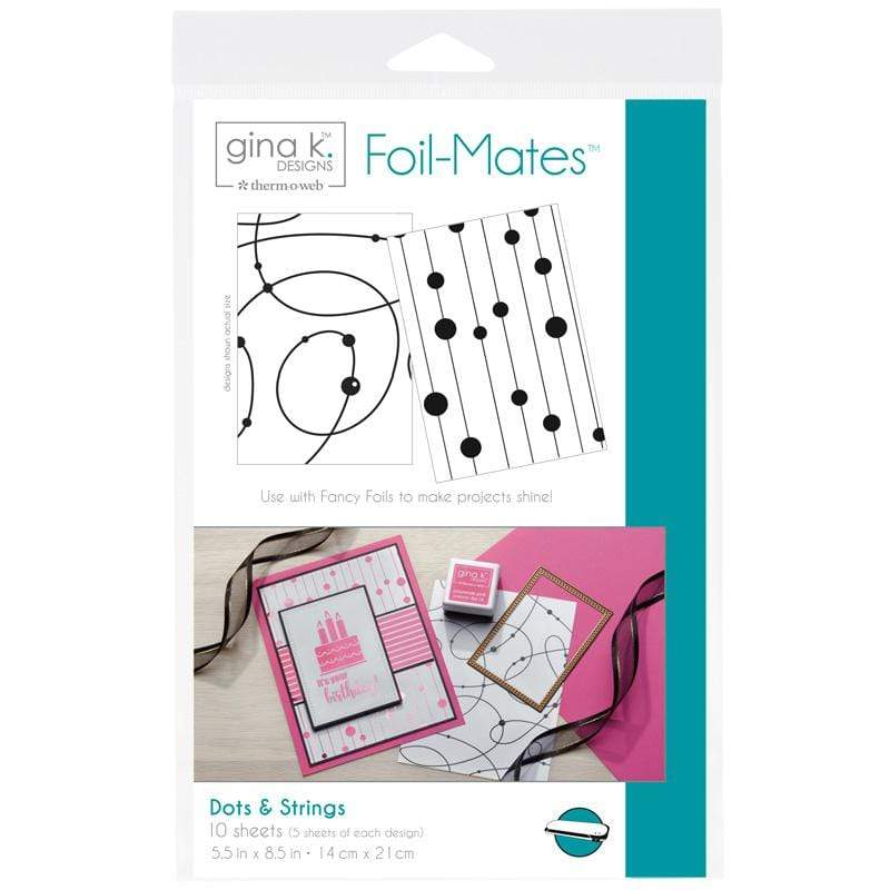 Therm O Web Gina K. Designs Foil-Mates Backgrounds, Dots and Strings 18018