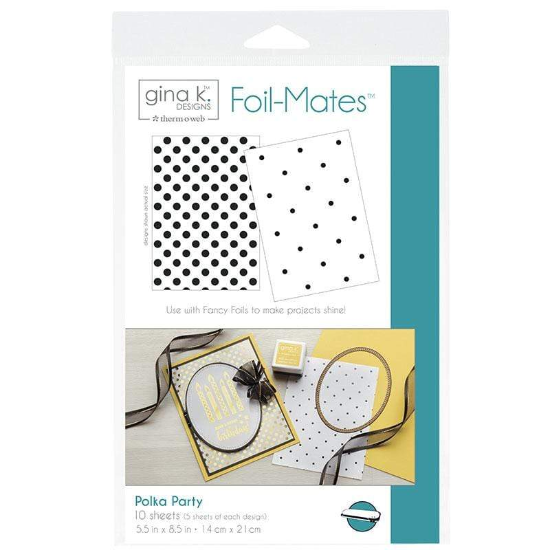 Therm O Web Gina K. Designs Foil-Mates Backgrounds, Polka Party 18017
