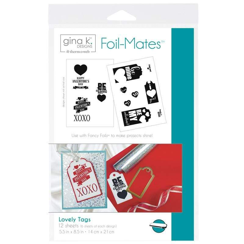 Therm O Web Gina K. Designs Foil-Mates, Lovey Tags 18067