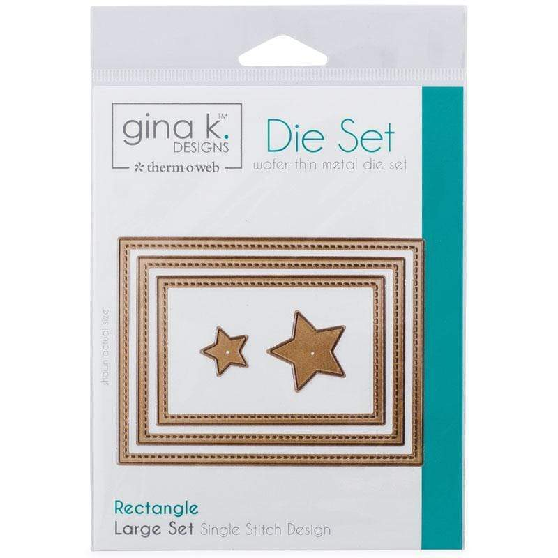 Therm O Web Gina K. Designs Nesting Die Set Rectangle Single Stitch, Large 18012