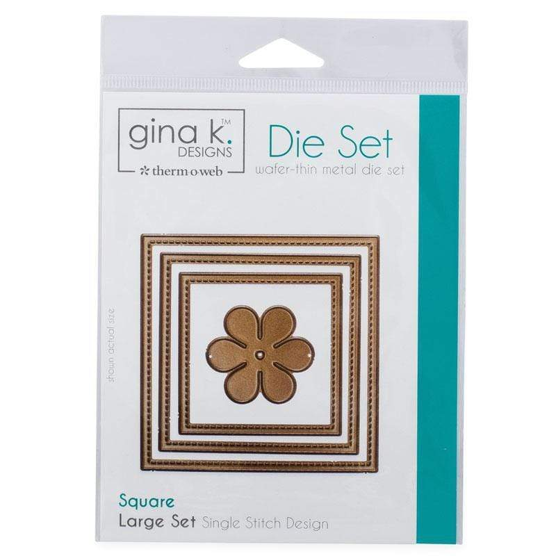 Therm O Web Gina K. Designs Nesting Die Set Square Single Stitch, Large 18010