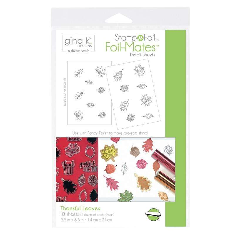 Therm O Web Gina K. Designs StampnFoil Foil-Mates Detail Sheets, Thankful Leaves 18104