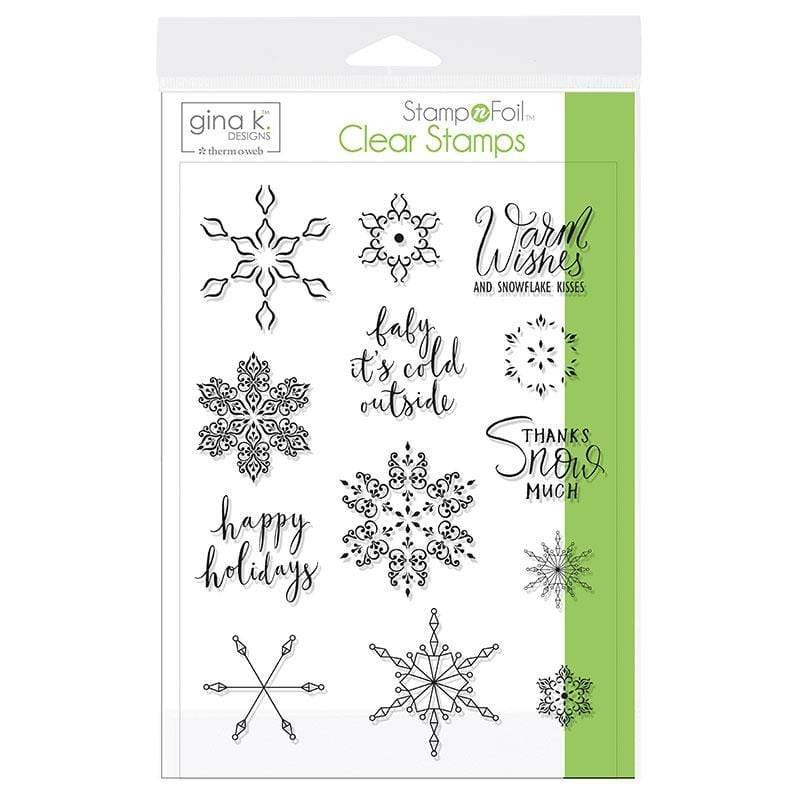 Therm O Web Gina K. Designs StampnFoil Stamp Set, Baby It's Cold Outside 18120