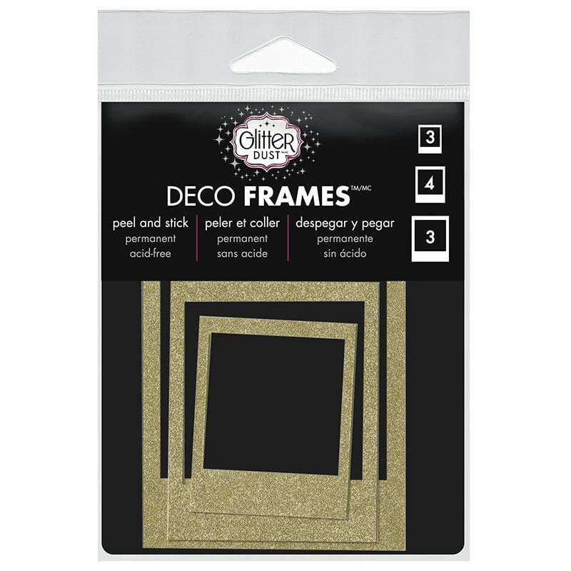 Therm O Web Glitter Dust Polaroid Frame Assortment, Gold D08.01