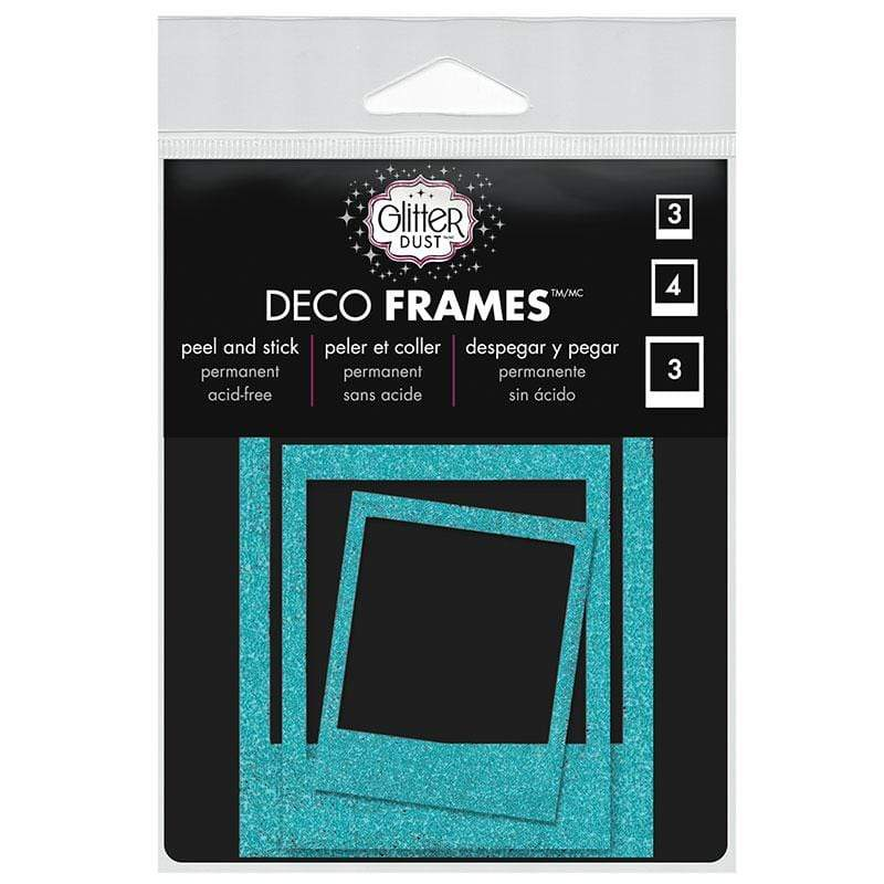 Therm O Web Glitter Dust Polaroid Frame Assortment, Teal D08.03