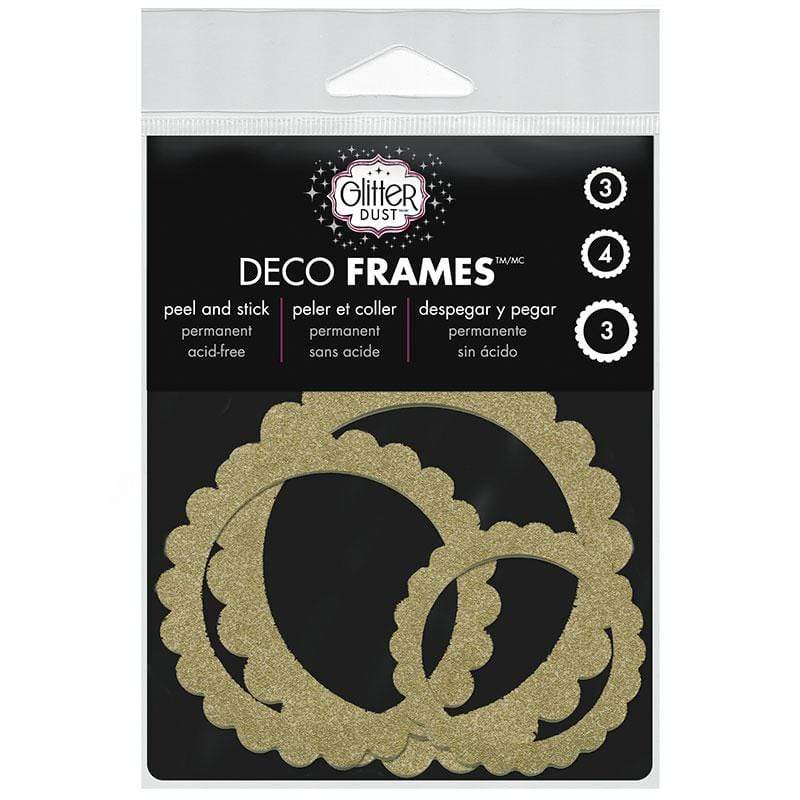 Therm O Web Glitter Dust Scallop Circle Frame Assortment, Gold D12.01