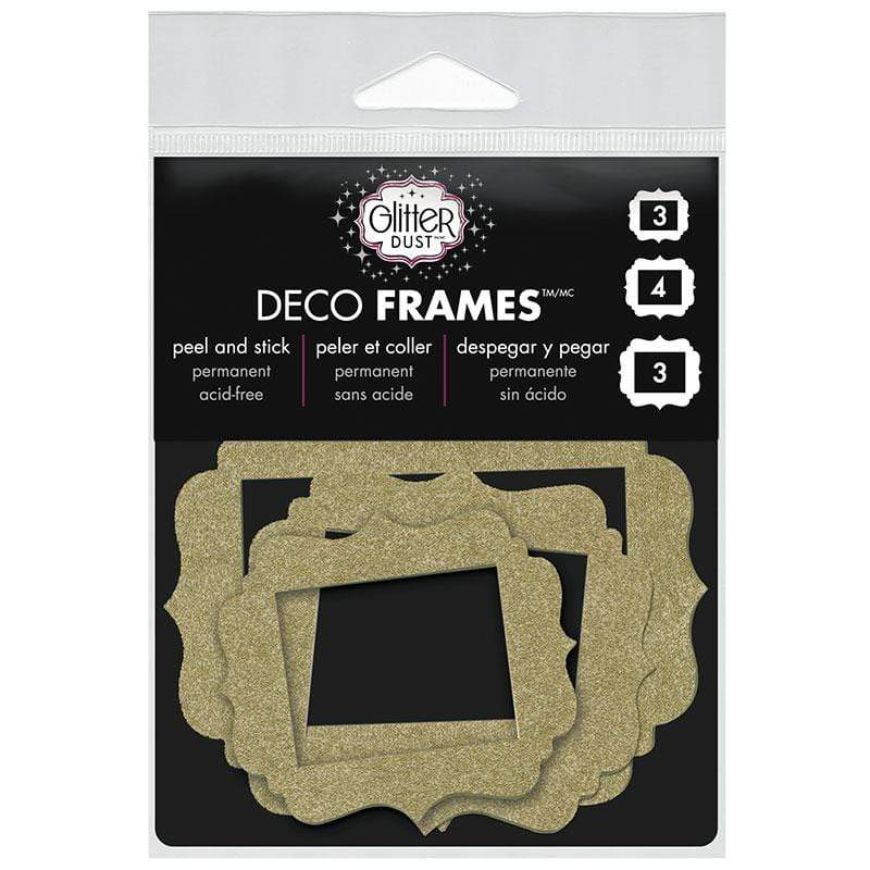 Therm O Web Glitter Dust Vintage Frame Assortment, Gold D04.01