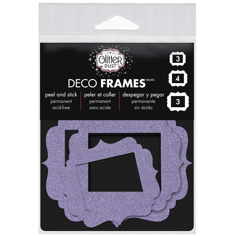 Therm O Web Glitter Dust Vintage Frame Assortment, Purple D04.04