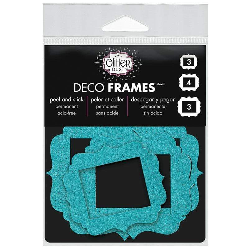 Therm O Web Glitter Dust Vintage Frame Assortment, Teal D04.03
