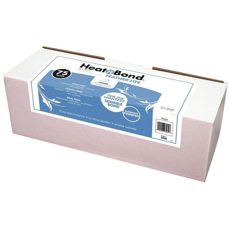 Therm O Web Heatnbond FeatherLite Iron-On Adhesive Roll Display Box, 17 in x 75 yds 3534