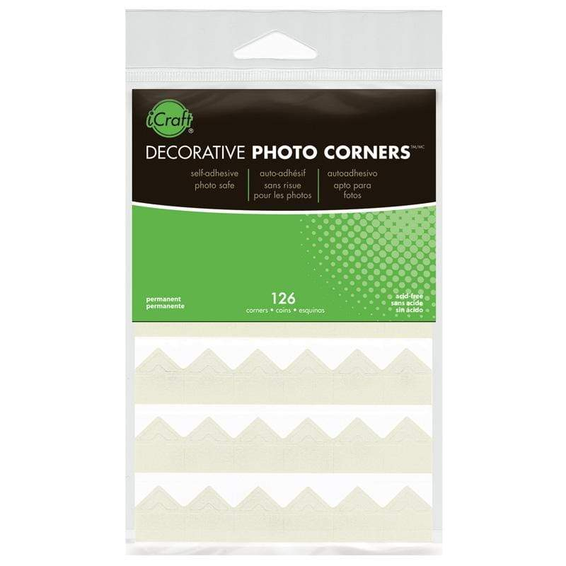 Therm O Web iCraft Decorative Photo Corners, Ivory 3869