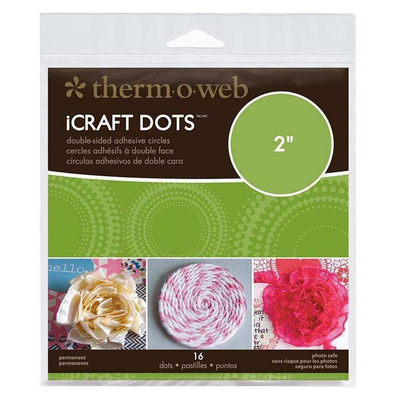 Therm O Web iCraft Dots Pre-Cut Double-sided Clear Adhesive Circles,<br>2 in dia. 3380