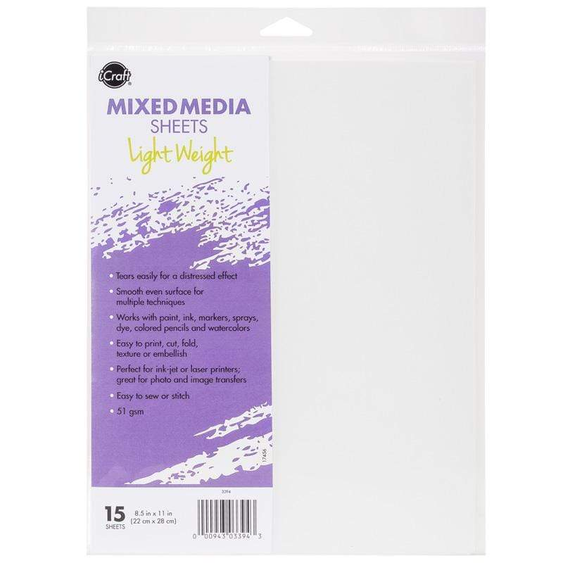 Therm O Web iCraft Mixed Media Sheets, Light Weight 3394