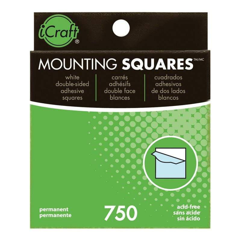 Therm O Web iCraft Mounting Squares Permanent Adhesive (White), 750 Count 3872